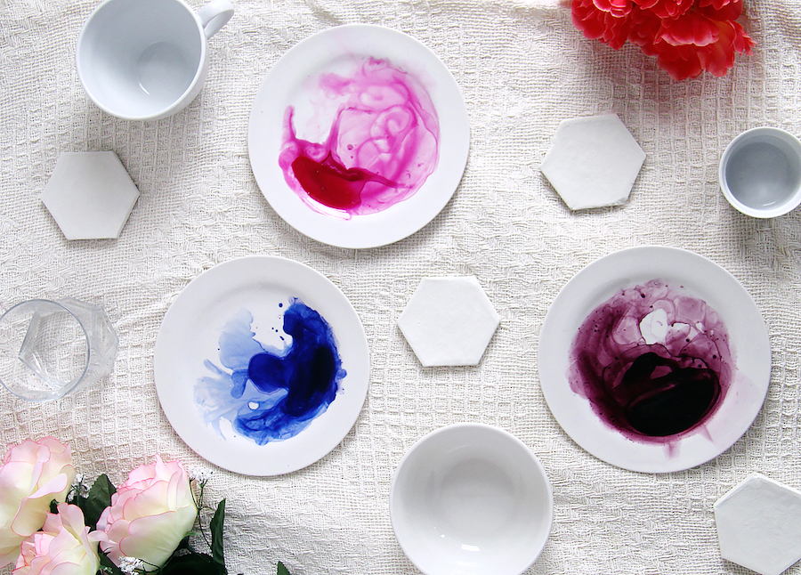 Fall For DIY Watercolor plates