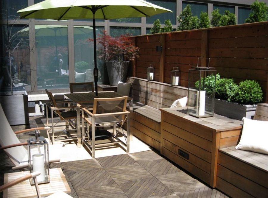 Small space ideas for balconies terraces and decks for Terrace kitchen garden ideas