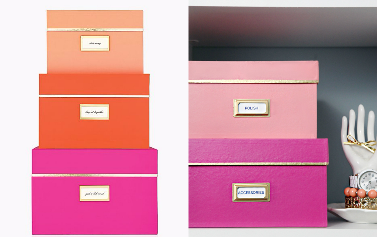 Kate Spade/I Heart Organizing Storage Box Set