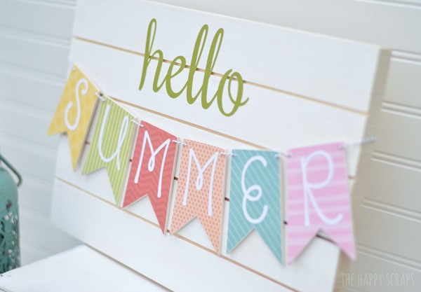 The Happy Scraps via Todays Creative Life DIY summer banner