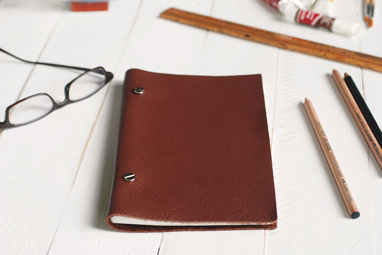 The Merrythought DIY leather sketchbook