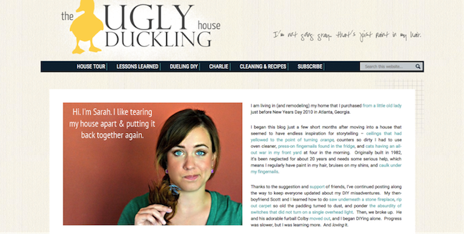 The Ugly Duckling House blogger