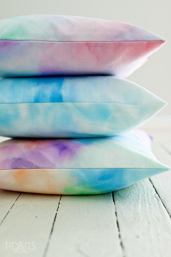 Tidbits DIY watercolor pillows