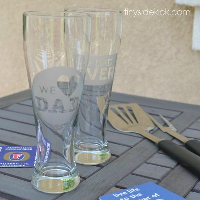 Tiny Sidekick etched beer glasses DIY