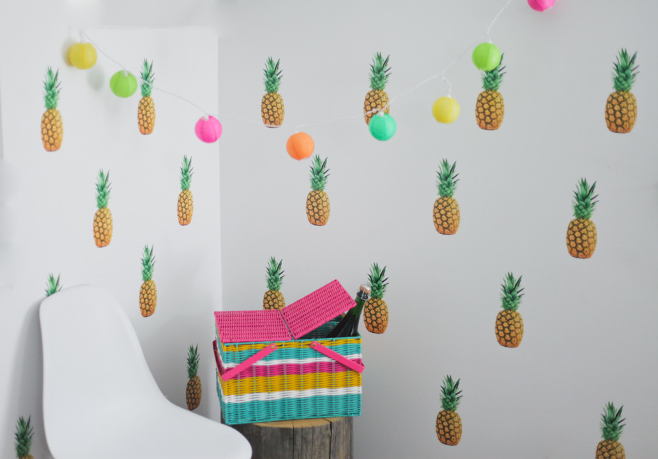Urban Walls pineapple wall decals