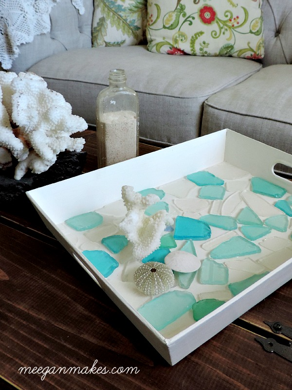 beach glass serving tray diy tray what do make with beach glass beach glass diy