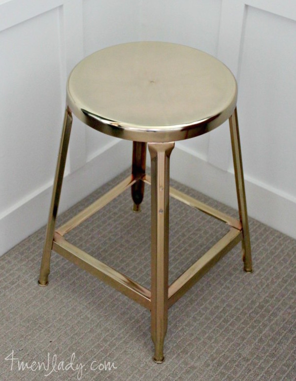 4 Men 1 Lady DIY brass plated stool makeover