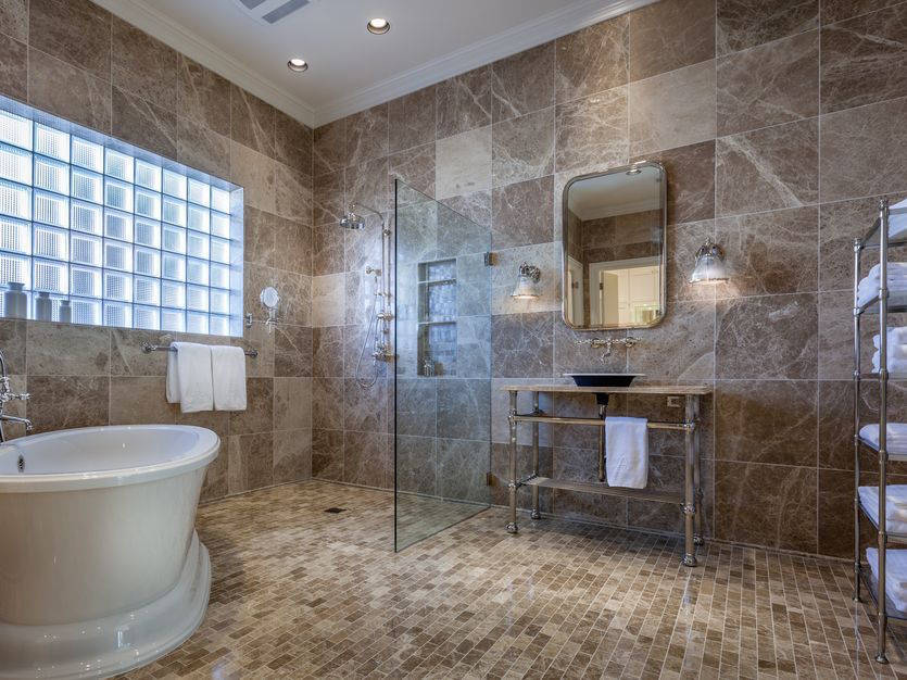 Dallas Bathroom Remodel Model before and after: a luxurious full master bath remodel - porch advice