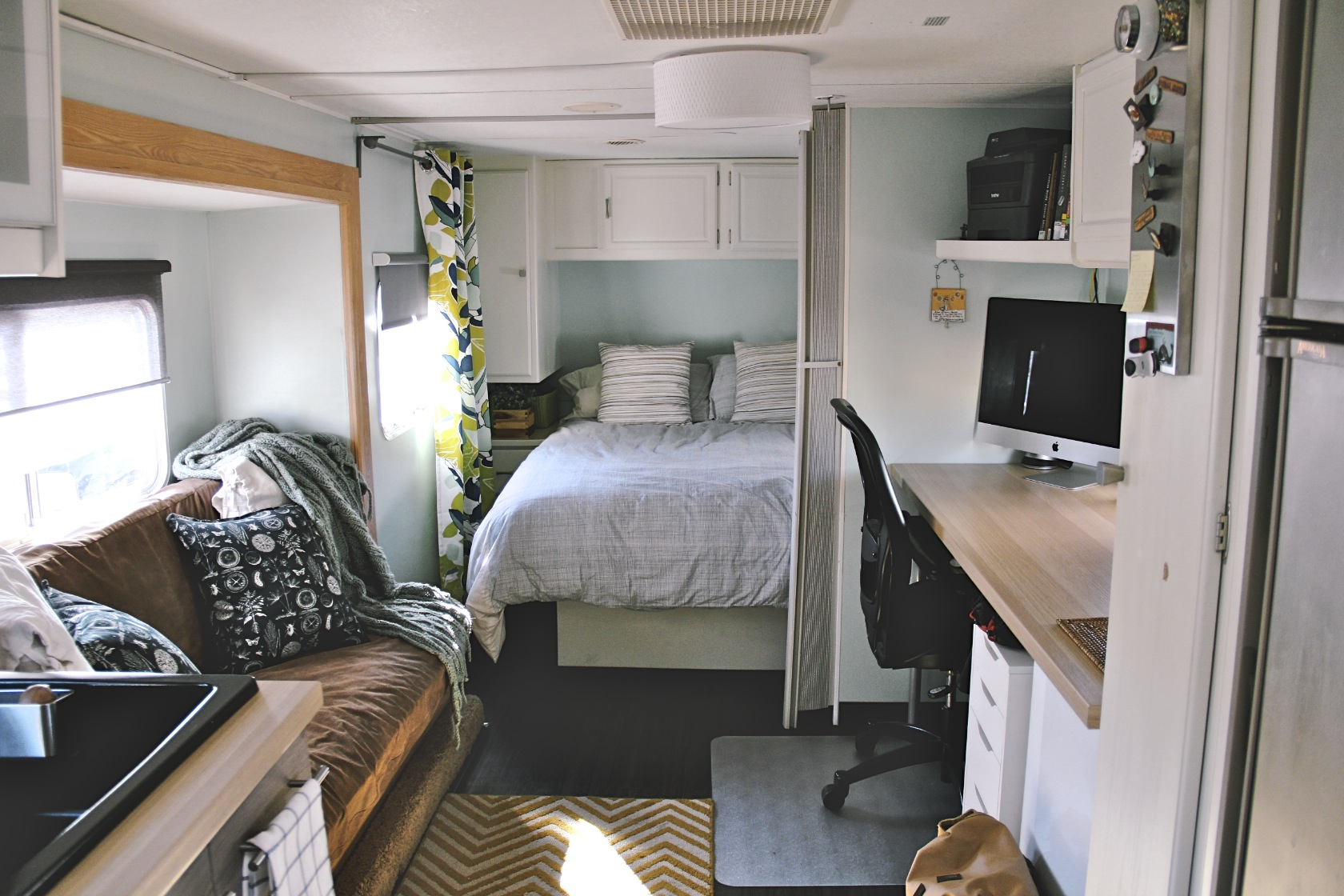 Anchored Home Trailer