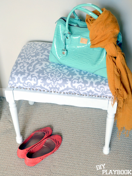 DIY Playbook DIY upholstered bench with nailhead trim
