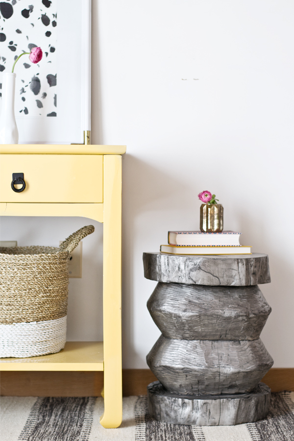East Coast Creative DIY tree stump stool