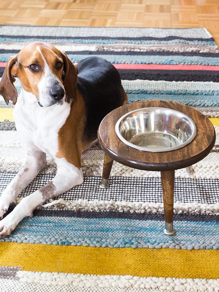 Sarah Hearts DIY dog bowl stand