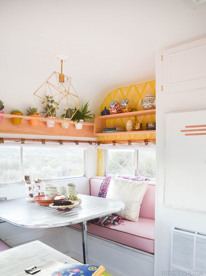 Homes on wheels 5 travel trailer makeovers we love for Cute yellow kitchen ideas