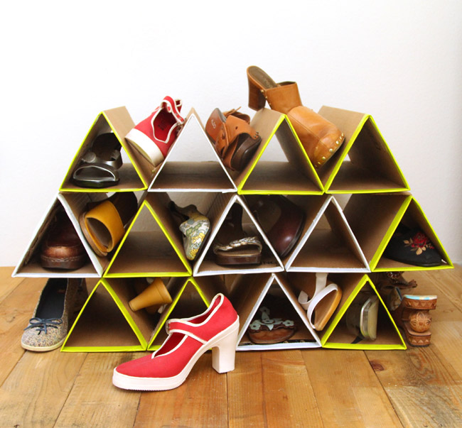 A Piece Of Rainbow DIY shoe rack