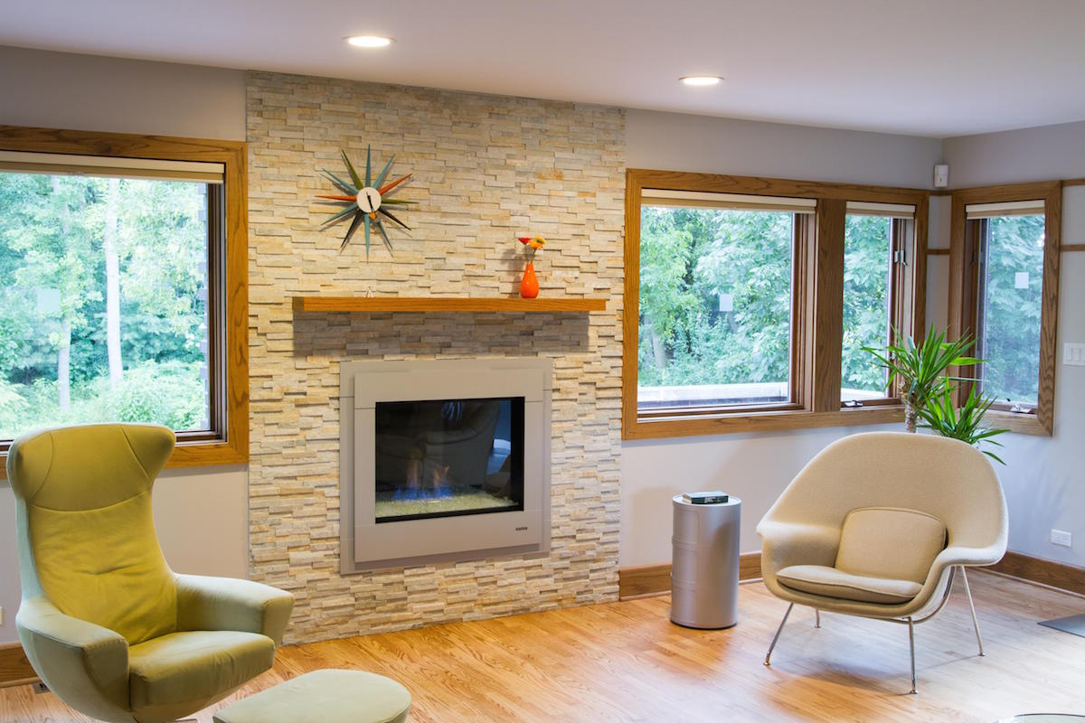 before and after a dull fireplace gets a facelift porch advice