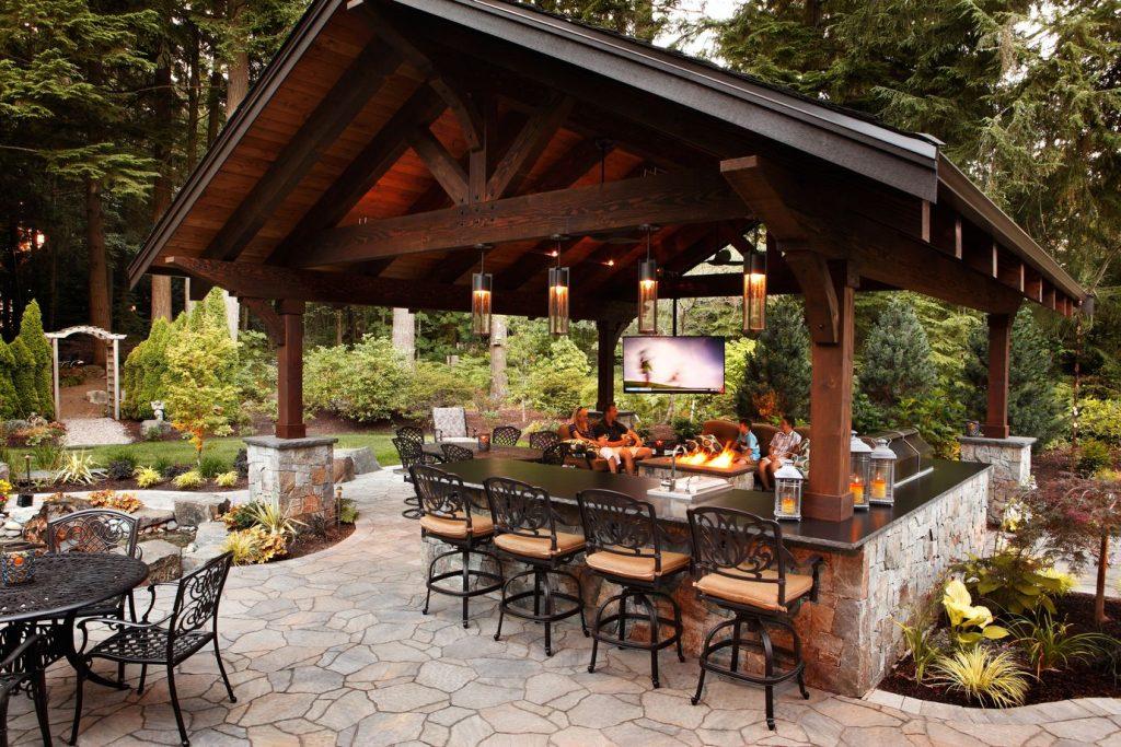Alderwood Landscaping outdoor kitchen