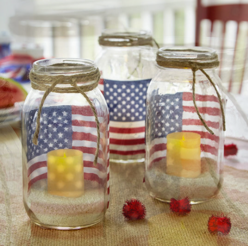 American_Flag_Mason_Jar_Votive_Holders