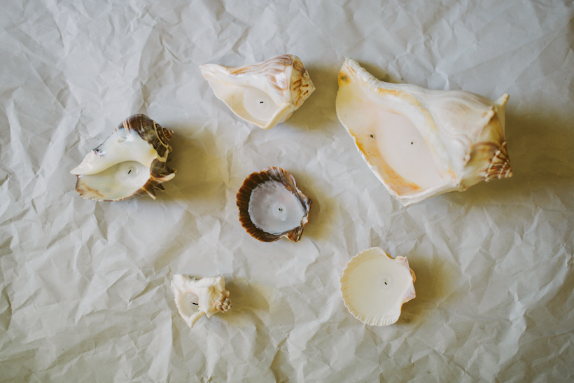 seashell candles diy tutorial how to-4