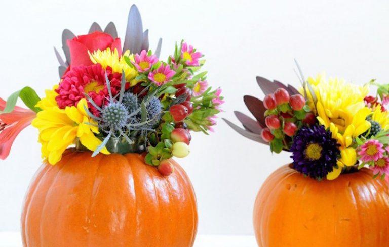 Diy Pumpkin Flower Vases Youll Be Obsessing Over All Season Long