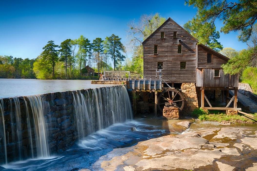 Historic Yates Water Mill in Raleigh, North Carolina