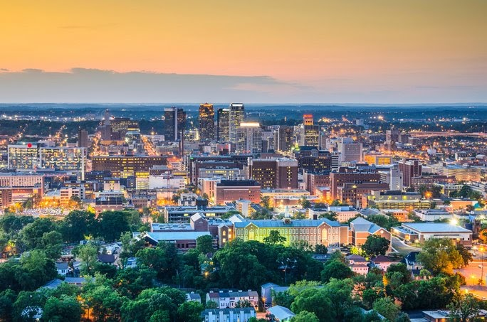 Downtown skyline. Birmingham, Alabama, USA