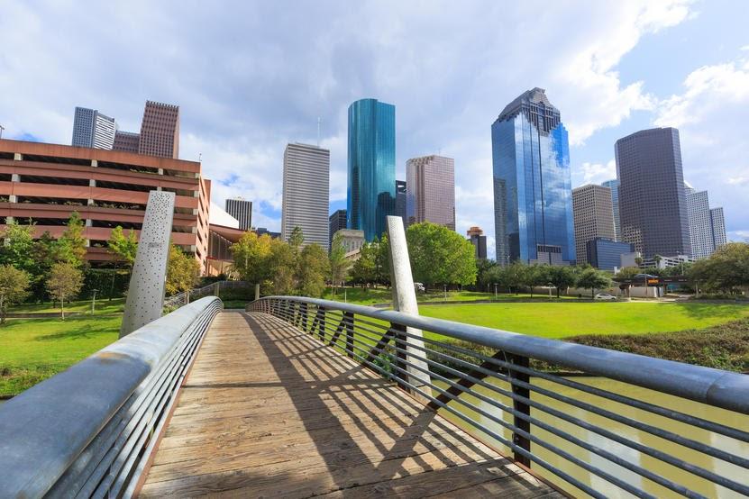 Downtown city of Houston, Texas